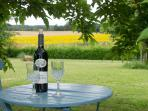 Enjoy an aperitif under the mulberry trees with views of the sunflower fields.