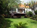 Villa Firdaus view of garden and deck