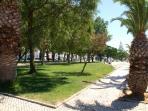 The walk down the Marina