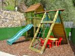 Children's Playground - this terrace is fully fenced and gated for child safety