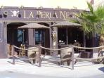 La Perla Negra on the boulevard within walking distance from the Villa.  Live music