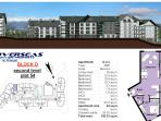 3 bed apartment floor plan, 4 3 bed apartments available with SJI Ski Retreats