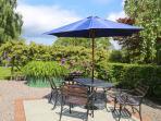 Garden Cottage private patio area