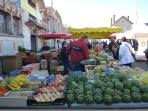 Farmers markets are numerous and regular. The superb market at Thouars
