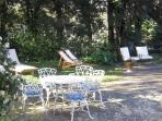 Villa Caprera. The front yard and garden