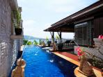 Plunge Pool, Water beds, decking, Terrace