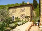 1 bedroom apartment in impressive Tuscan barnhouse with swimming pool surrounded by olive trees