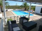Azeitona terrace overlooking pool and countryside