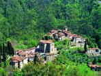 The old hamlet Pietrabuona,just close to Fattoria di Pietrabuona