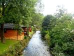 Lodges dotted along the beck