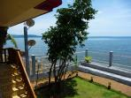 A splendid view from the balcony to the coast of 'Biliran Island'