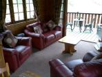 The Lounge overlooks the river
