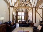 wonderful original oak beams throughout the barn