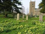 Troutbeck church in spring