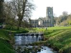 World Heritage Centre - Fountains Abbey  truely magnificant, about 10 miles to south of Masham.