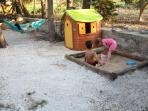 kids enjoying the sand pit.