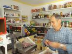 Our little grocery store -fresh olives, bread, fruit all from the local farmers 100m from your door!