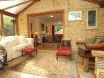 The through dinning and living are, to conservatory is ideal for socialising and relaxing as a group