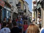 Fore Street 2 mins from cottage,clothes shops,local jewellers, cafe's, art galleries etc