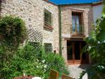 Chez Charlotte converted barn with private courtyard and garden.  Quality renovation.
