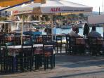 Skala Polichnitos (walking distance) where fish goes from the boat straight to your plate!