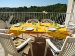 The top terrace - dining