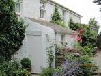 The front of the house as you arrive. Each cottage has their own private garden and peace and quiet
