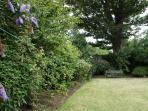 Large communal garden area