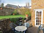 Wonderful, private and peaceful garden with views of the church