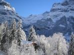 Eiger and Fiescherhorn from Chalet
