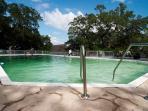Large pool near house