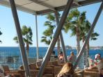 From the 'Deck' restaurant near the beach