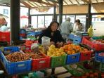 At Paphos fruit market
