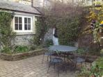 Rear courtyard seating, perfect for al fresco dinning