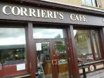 Corrieris  Cafe - excellent Italian Cafe - great pastas, pizzas and ice cream - 5 minute walk away