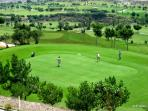 The stunning 18 hole golf course at La Envia is carved into the mountain side. A great day's go