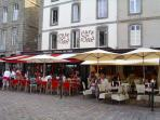 Restaurants in vibrant St Malo.