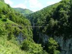 Swing Bridge - Holzarte Gorge, popular walk