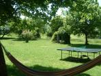 Relax in the Hammock or enjoy the many outdoor games and equipment we provide.