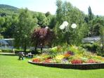 Main park in Brides, a 3 fleurie town so specially recognised for its beauty