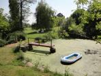 Pond garden looking towards Cidre Barn