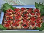 The famous and delicious 'Crostini con Pomodori freschi'