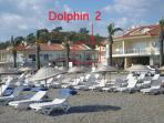 It takes 30 seconds to walk to Dolphin 2 from the beach