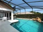 Private Pool (heating optional) and Extra Large Lanai and plenty of pool furniture.