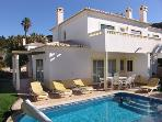 Private Pool with 6 sun loungers and outside dining..new table and chairs since this photo.