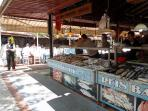 The Fish Market in Fethiye.  Select your seafood & take to one of the restaurants to have it coo
