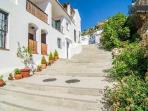 Entrada al apartamento en Callejón del Agua,la parte alta de esta calle pertenece al casco histórico