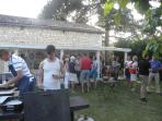 Each Thursday, we have a barbecue evening in the garden