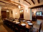 Large dining room next to the Old Bakery kitchen