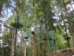 Tree adventure park at Saint Pardoux, here you will find a resort lake with beaches.